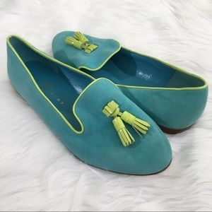 Ivanka Trump Blue Suede Loafers